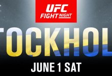 Devin Clark treft Darko Stosic tijdens UFC Stockholm in Juni