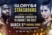 Uitslagen : GLORY 64 : Strasbourg