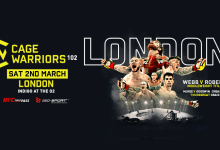 Uitslagen : Cage Warriors 102 : Robertsen vs. Webb