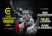 Uitslagen : Cage Warriors 103 : Dalby vs. Lohoré
