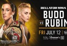Julia Budd verdedigt Featherweight titel tegen Olga Rubin in Thackerville tijdens Juli evenement