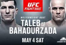 Siyar Bahadurzada haakt geblesseerd af voor voor UFC on ESPN+ 9
