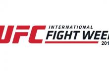 TUF winnaars Michael Chiesa en Diego Sanchez vechten tijdens UFC 239 in Las Vegas