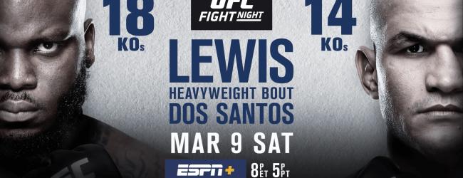 Uitslagen : UFC on ESPN+ 4 Wichita : Lewis vs. Dos Santos