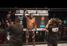 "Justin Ledet treft EFC ""Double Champ"" Dalcha Lungiambula tijdens UFC Minneapolis"