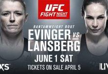 Tonya Evinger treft de Zweedse Lina Länsberg tijdens UFC Stockholm
