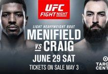 Ongeslagen Alonzo Menifield treft Schot Paul Craig tijdens UFC Minneapolis