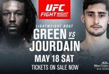 Rochester's Desmond Green treft nieuwkomer Charles Jourdain in tijdens UFC Rochester