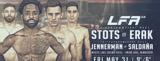Raufeon Stots vs. Gustavo Erak is het Main Event voor LFA 68 in Prior Lake, Minnesota