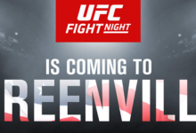 Middleweight gevecht tussen Alessio Di Chirico en Kevin Holland tijdens UFC Greenville