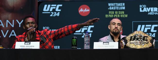 """""""Whittaker vs. Adesanya in Oktober tijdens PPV evenement in Sydney"""""""