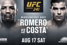 Poging 4: Yoel Romero vs. Paulo Costa officieel voor UFC 241 in Anaheim