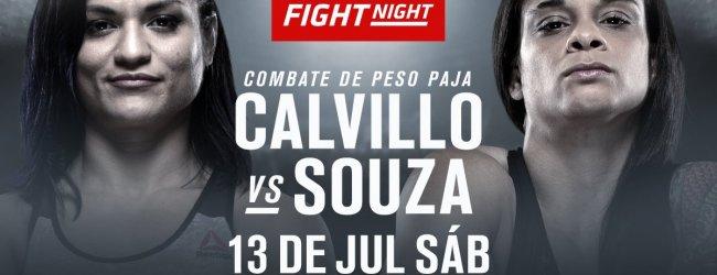 Cynthia Calvillo haakt geblesseerd af voor UFC Sacramento in verband met een gebroken voet