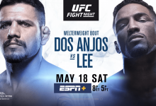 Uitslagen : UFC on ESPN+ 10 Rochester : Dos Anjos vs. Lee