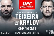 Teixeira vs. Krylov en Duffee vs. Hughes toegevoegd aan UFC Vancouver card