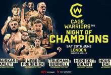 Cage Warriors 106 Preview : zes titelgevechten in Londen