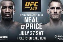 Violence Alert!!! Geoff Neal vs. Niko Price tijdens UFC 240 in Edmonton