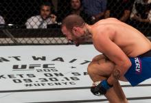 Eric Spicely treft nieuwkomer Brendan Allen tijdens UFC Boston