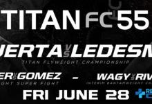 Uitslagen : Titan FC 55 : Puerta vs. Ledesma