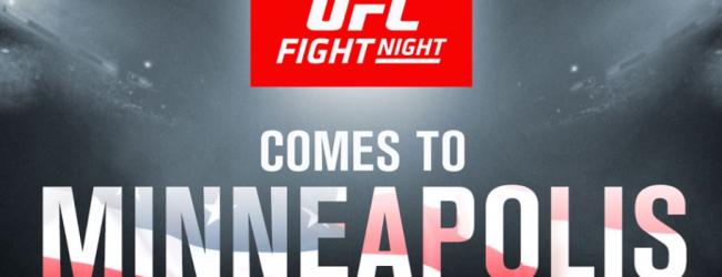 Short notice partij voor Vince Murdock tegen Jordan Griffin tijdens UFC Minneapolis
