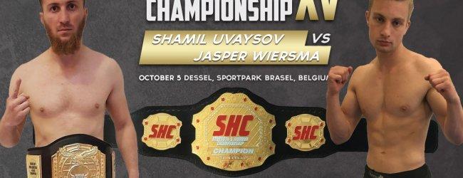 Shamil Uvaysov en Jasper Wiersma vechten voor de vacante SHC Featherweight titel