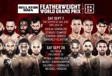 Dit zijn de 16 deelnemers van het Bellator MMA Featherweight toernooi
