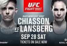 Ongeslagen Macy Chiasson treft Lina Länsberg tijdens UFC Kopenhagen
