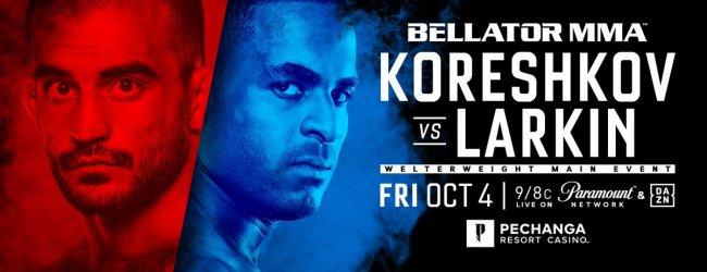 Andrey Koreshkov vs. Lorenz Larkin is het Main Event voor Bellator 229 in Temecula