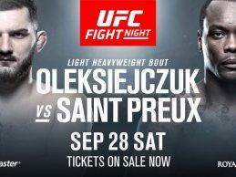 Twee nieuwe gevechten toegevoegd aan UFC Fight Night 160 card in Kopenhagen