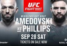Alen Amedovski en John Phillips vechten voor eerste overwinning tijdens UFC Kopenhagen
