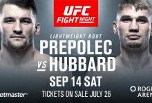 Prepolec vs. Hubbard en Smolka vs. MacDonald toegevoegd aan UFC Vancouver