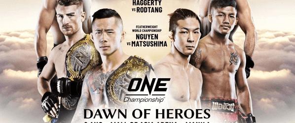 Martin Nguyen en Koyomi Matsushima vechten voor de titel tijdens Dawn Of Heroes