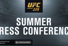 UFC Summer Press Conference 2019 start vrijdag om 23.30 uur
