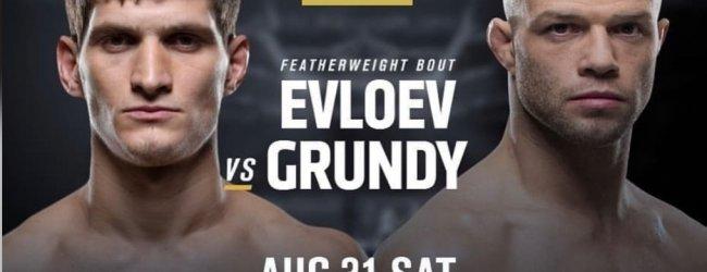 Voormalig M-1 Global Kampioen Movsar Evloev treft Mike Grundy tijdens UFC Shenzhen
