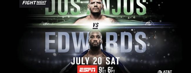 Uitslagen : UFC on ESPN 4 : Dos Anjos vs. Edwards