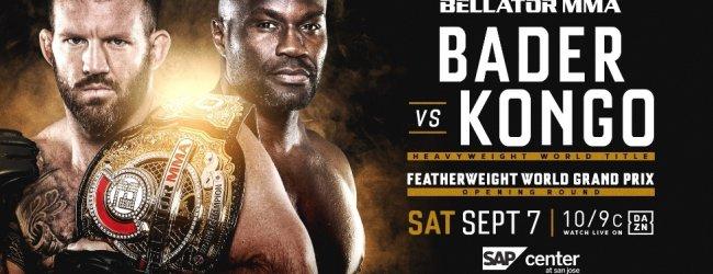 Ryan Bader verdedigt op 7 september zijn heavyweight titel tegen Cheick Kongo