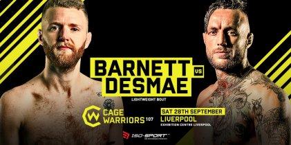 Nieuwe gevechten aangekondigd voor Cage Warriors 107 in Liverpool