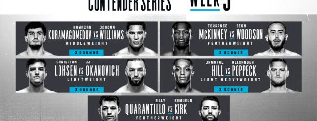 Uitslagen : DWCS Season 3 Week 5 : Kuramagomedov vs. Williams