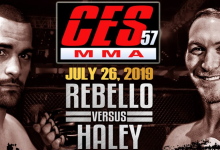 Uitslagen : CES MMA 57 : Rebello vs. Haley