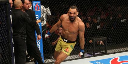 Michel Pereira vs. Zelim Imadaev tijdens UFC evenement op 5 september