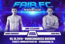 Daan Duijs vecht voor Fair FC Bantamweight titel tegen Shamil Banukaev
