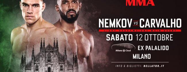 Vadim Nemkov vs. Rafael Carvalho is het Co-Main Event van Bellator Milaan + meer
