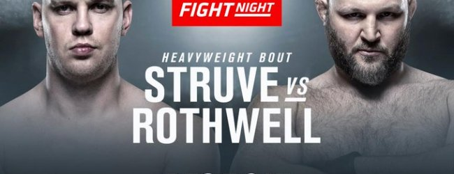 Stefan Stuve treft Ben Rothwell tijdens UFC on ESPN 7 in Washington D.C.