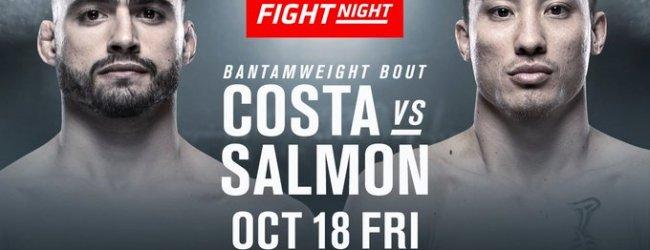 Randy Costa en Boston Salmon vechten voor eerste UFC overwinning tijdens UFC Boston