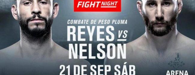 Marco Polo Reyes vecht voor eigen publiek tegen Kyle Nelson tijdens UFC Mexico City