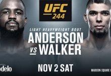Corey Anderson vs. Johnny Walker officieel voor UFC 244 in New York