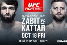 Zabit Magomedsharipov neemt het op tegen Calvin Kattar in het co-main event van UFC Boston