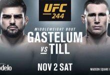 Kelvin Gastelum treft Darren Till tijdens UFC 244 in New York