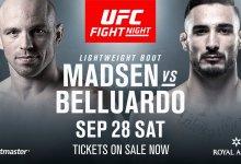 Olympiër Mark O. Madsen maakt UFC debuut in Kopenhagen tegen Danilo Belluardo