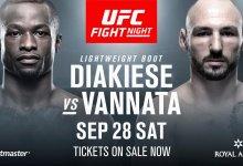Marc Diakiese vs. Lando Vannata toegevoegd aan UFC Kopenhagen